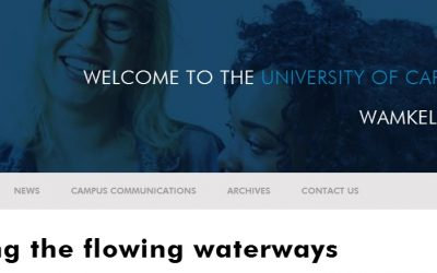 UCT | Celebrating The Flowing Waterways