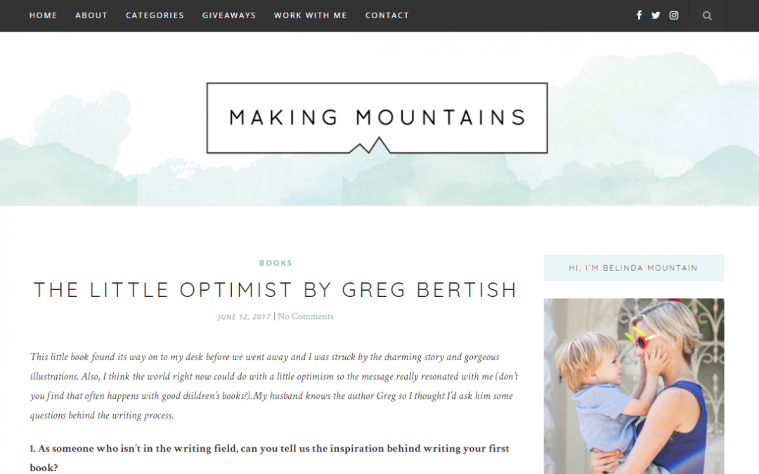Making Mountains | Greg Bertish & The Little Optimist