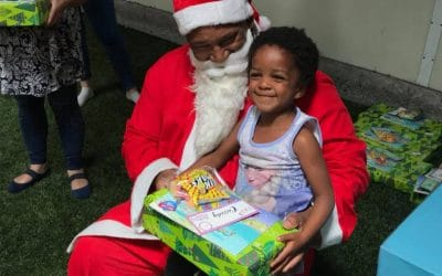 The Little Optimist and Santa visited Malachi Place Of Safety Christmas Party!