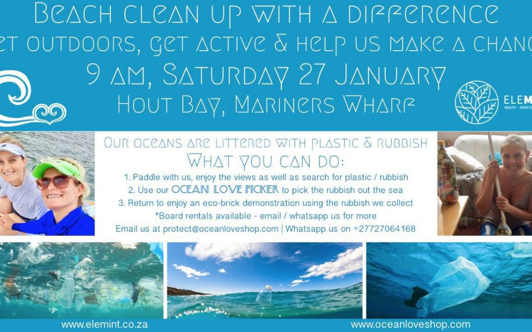 BEACH CLEAN UP IN HOUT BAY AT THE MARINA WHARF 27/01/2018
