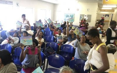 "Kids at the Red Cross Outpatients receive 100s of donated ""The Little Optimist"" Books 18/12/17"