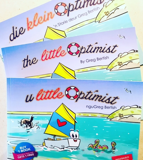 The Little Optimist children's book launches in AFRIKAANS and XHOSA .