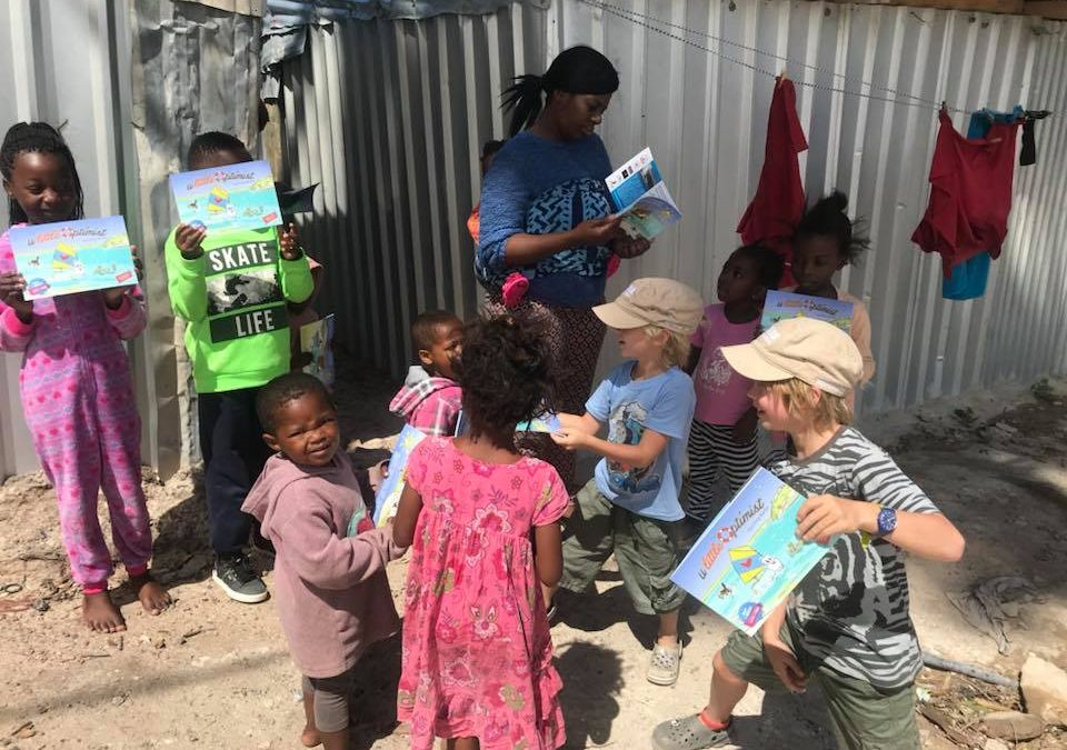 The Little Optimist and his helpers! in Imizamo and Yethu 09/12/17
